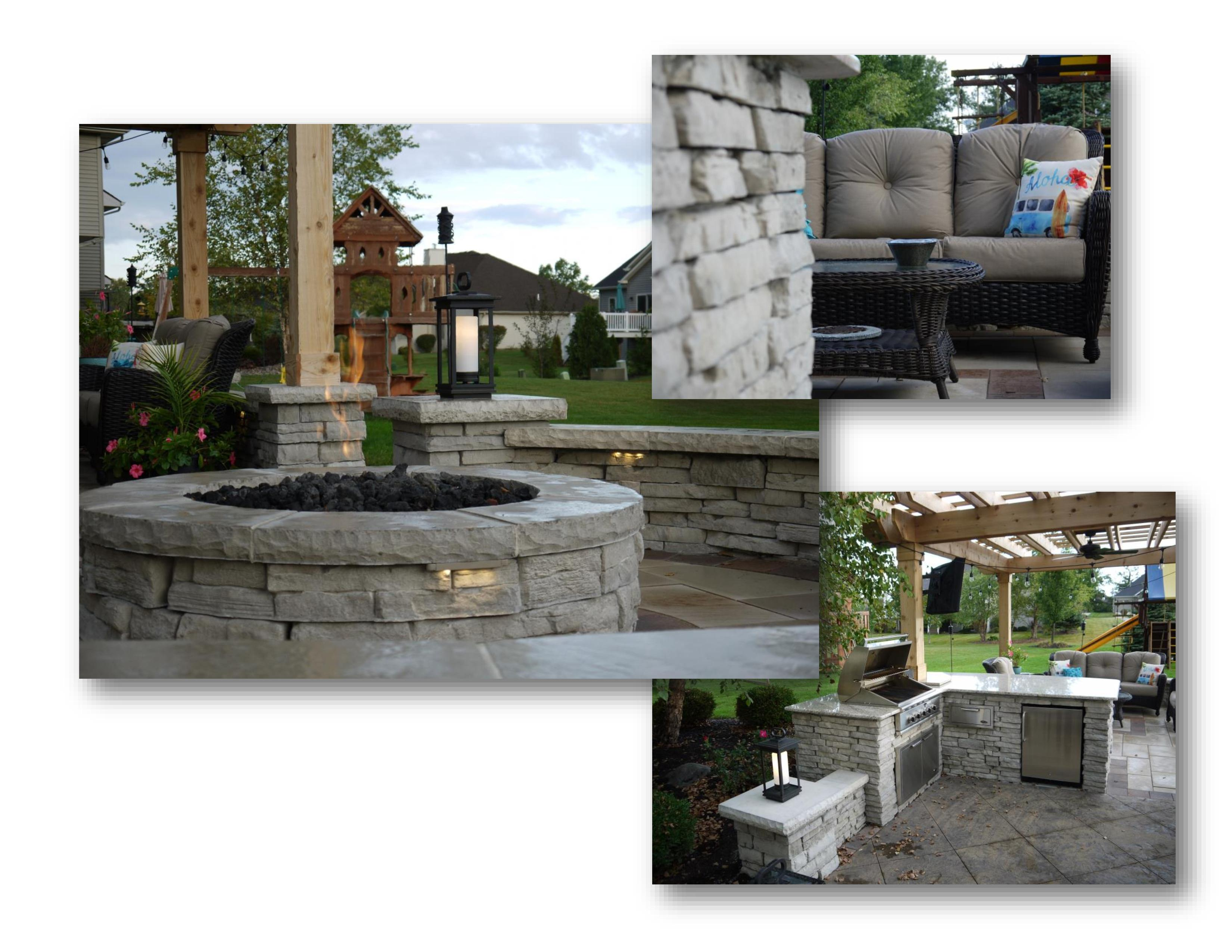 outdoor living hardscapes in fort wayne by vision scapes